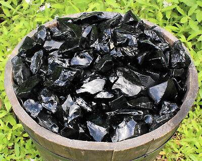 1/4 lb Bulk Lot Natural Rough Black Obsidian Raw Rock Stone Crystal Healing 4 oz