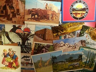 LOT OF 100 + CHROME U.S.A  POSTCARDS  UNPOSTED ***1960 / 70s , CONTINENTALS