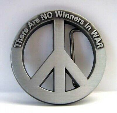 Peace Buckle, There Are No. Winners in Was, Friedens-Zeichen, Belt Buckle
