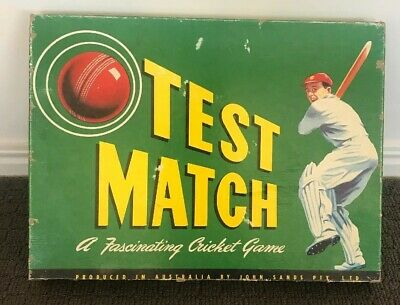 Vintage John Sands Australia Test Match Cricket Board Game With Instructions