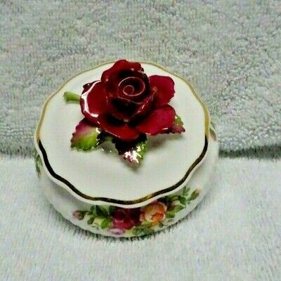 Royal Albert Old Country Roses Covered Small Round Pill Holder