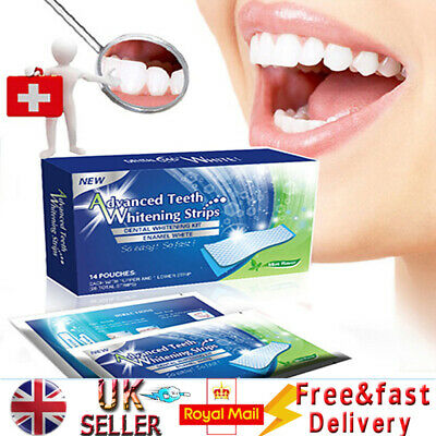 28 Professional Advanced Teeth Whitening White Strip Strip Home Tooth Bleaching