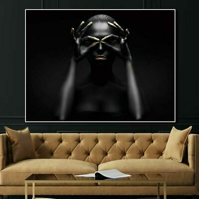 Female Wall Picture for Home Living Room Wall Canvas Poster Frameless Painting