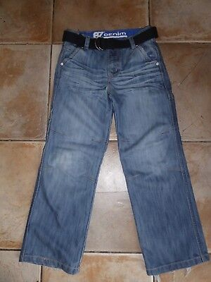 Boys Debenhams BZ Denim Jeans with Belt 8 Years