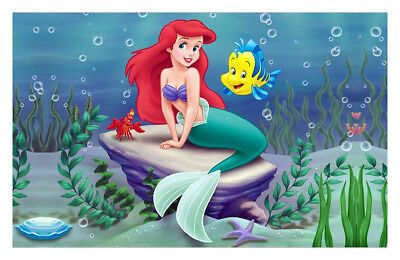 CHOP830 100% hand painted Ariel The Little Mermaid oil painting art on canvas