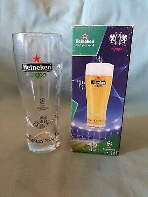 Collectable Heineken Wembley UEFA Champions League Final 2011 Glass Boxed GC