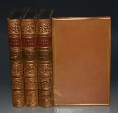 The Popes of Rome Ecclesiastical & Political History 3 Vols Fine Binding 1866