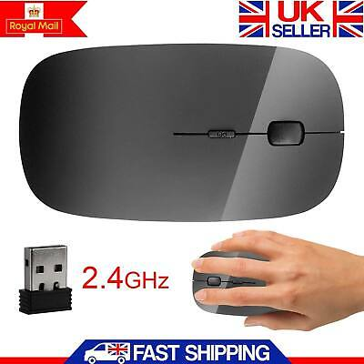 New Wireless 2.4 GHz Cordless Optical Scroll USB Mouse For PC Laptop Computer UK