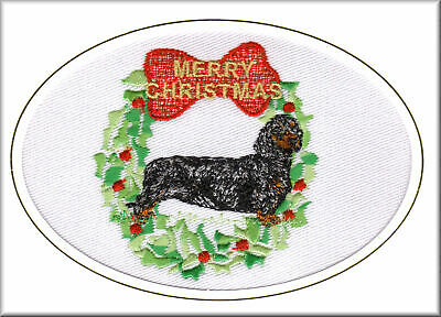 Dachshund Smooth Haired Birthday Card or Notecard Embroidered by Dogmania