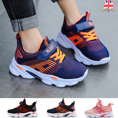 Kids Fashion Flyknit Running Shoes Boys Girls Trainers Sneakers Breathable Comfy