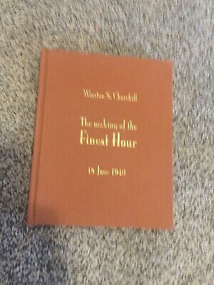 The making of the Finest Hour, Winston Churchill, 18 June 1940, with Unopened CD