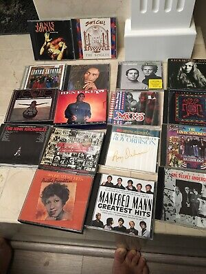 Lot of 18 Greatest Hits CDs Rolling Stones Neil Young Kinks Joplin Marley +more
