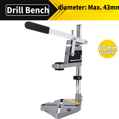 Hand Electric Drill Press Bench Stand Holder Workbench Pillar Clamp Drilling New