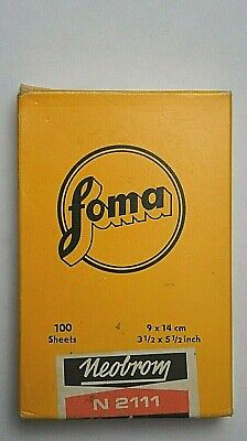 FOMA photographic paper expired vintage made in the Czech Republic in 1985