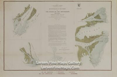 1852 USCS Reconnaissance of the Passes of The Delta of The Mississippi Louisiana