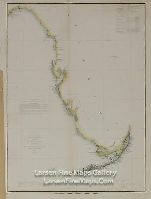 1851 USCS Sketch F General Reconnoissance of Western Coast of Florida 1848-1851