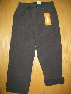 NWT Gymboree ICE ALL STAR Charcoal Gray Cargo Sweat Pants Elastic Waist