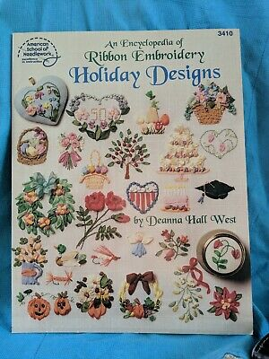 An Encyclopedia of Ribbon Embroidery Holiday design Deanna Hall West