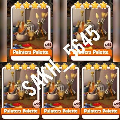 5 x painters Palette :- Artist set :- Coin Master Cards ( Fastest Delivery )