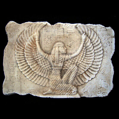 Isis Egyptian Goddess sculpture Relief plaque replica reproduction
