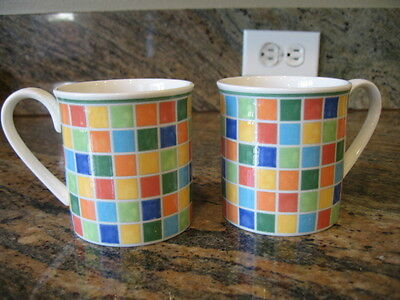 Villeroy & Boch TWIST ALEA LIMONE 10 oz Coffee Mugs Set EUC