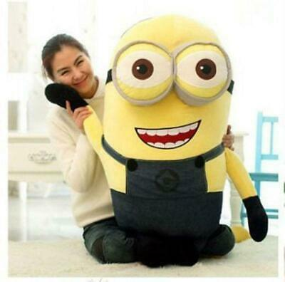 New 60 cm Despicable Me Double Eyes Minion Big Giant Large Soft Plush Toy Doll 3