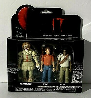Funko IT Movie Pennywise the Clown Stan & Mike Vinyl Action Figures 3-Pack NIB
