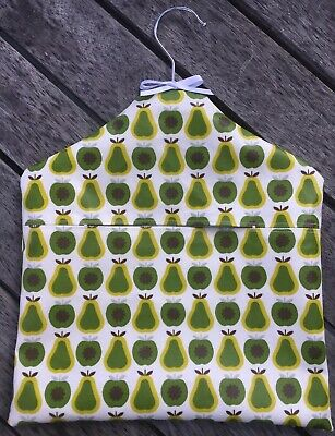 New Oil Cloth Peg Bag. Made From Orla Kiely Pears. Waterproof.