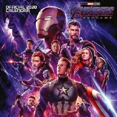 2020 Official Avengers Endgame Calendar By Marvel Studios