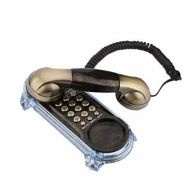 Vintage Hotel Phone Led Desk Wall Retro Push Button Telephone Corded Gifts Wood