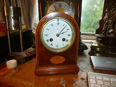 Antique 10 9Nch Solid Wood Mantle Clock Working Decorative 8 Day Clock.liverpool
