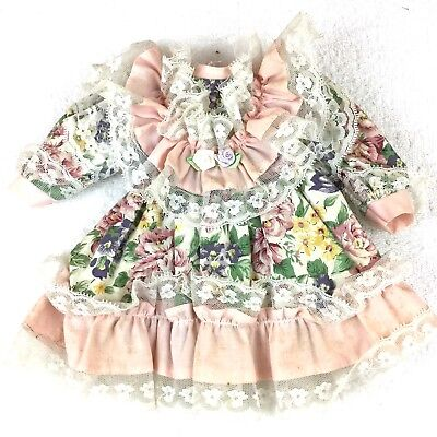 """Vintage French Victorian Dress 9"""" For Antique Bisque Doll 16-18"""""""