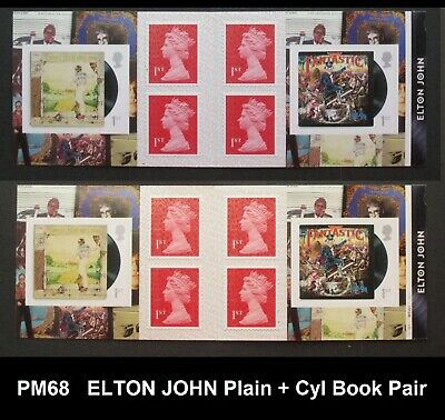 Pm68 ... 2019 Music Giants ... Elton John Plain + Cyl Book Pair
