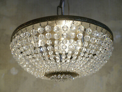 Small Crystal Pearl Chains Ceiling Lamp Light Chandelier Used Plafonnier Brass