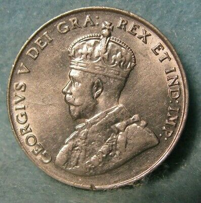 1922 Canada 5 Cents - Nickel AU * Canadian Coin #3831