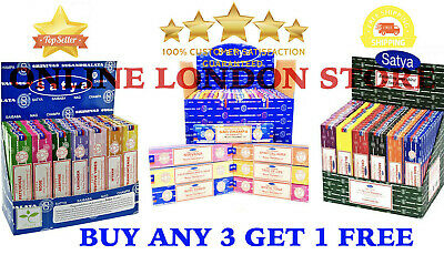 Satya Incense Sticks Nag Champa Incense Sticks Joss 15g From 0.99p (All Scents)