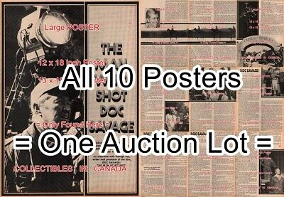 """DOC SAVAGE 1975 George Pal PRODUCER Interview =POSTERS Not Comic 2 SIZES 18""""-19"""""""