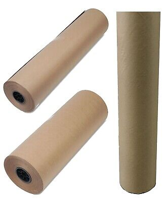 "50 lb Kraft Brown Paper Roll Heavyweight Wrapping Packing Paper 36"" 24"""