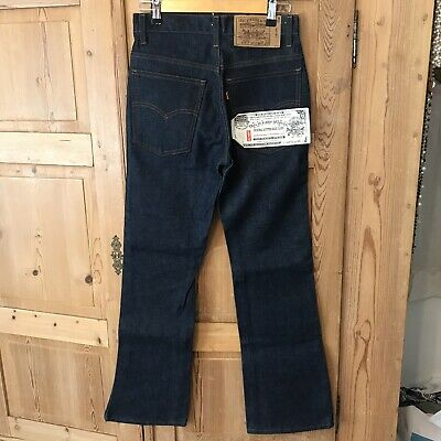 NWT Vintage Levis 20517-0217 Saddleman Boot Dark DENIM Jeans W28 L30 Orange Tab