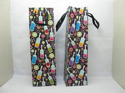 12X Colorful Wine Bottle Carrier Paper Gift Bags