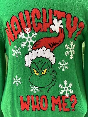The Grinch Christmas Sweater.The Grinch Christmas Sweater Mens Size Large Ugly Christmas Sweater Dr Seuss