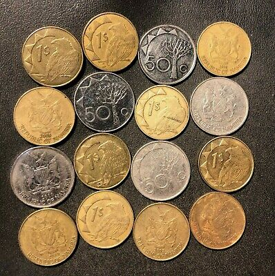 10 COINS FROM NAMIBIA OLD COLLECTIBLE COINS SOUTHWEST AFRICA NAMIBIAN DOLLAR