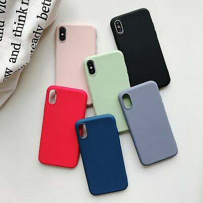 OEM Original Silicone Case For Apple iPhone XS Max XR X 7 8 Plus 6 Genuine Cover