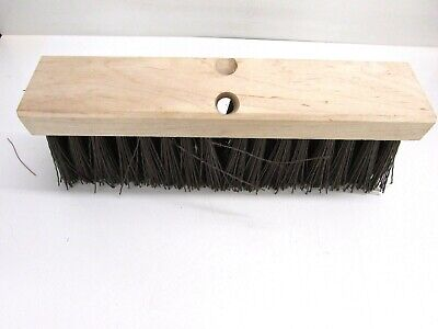 "Nos! Magnolia 16"" Floor Brush, Black Plastic 5"" Bristles"