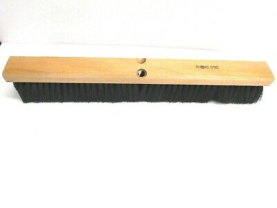 "Nos! 24"" Floor Brush Stiff Center, Fine Border Polypropylene Fibers 3"" Bristles"