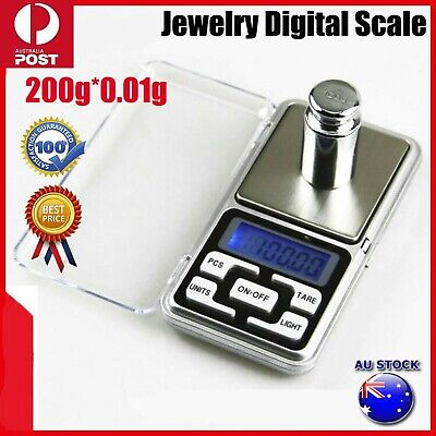 DIGITAL POCKET SCALES JEWELLERY PRECISION ELECTRONIC WEIGHT LAB MINI 200g/0.01g