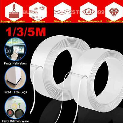 Nano Magic Gel Grip Traceless Tape Removable Clea Double-Sided Adhesive Washable