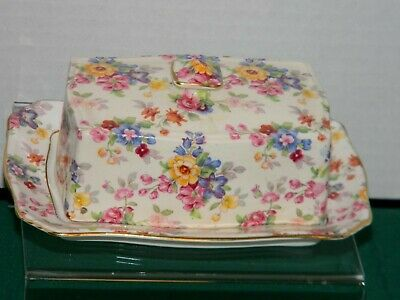 Royal Winton Cotswold Grimwades Marguerite 1 lb co butter floral Chintz England