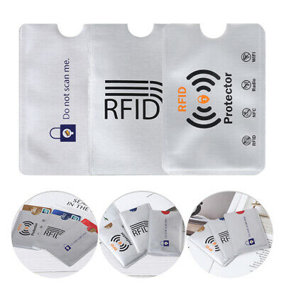 10pcs RFID Blocking Safet Sleeve Credit Card Protector Anti Theft Scan Safe