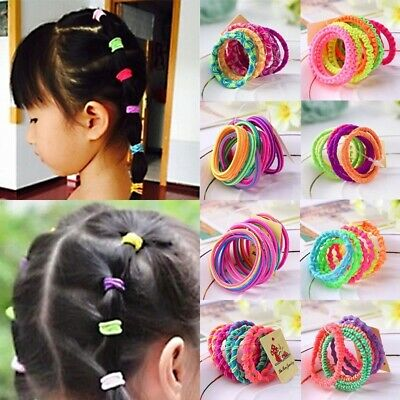 10Pcs Lovely Baby Hair Rope Hairbands Ties Colorful Girl Kids Elastic Ponytail